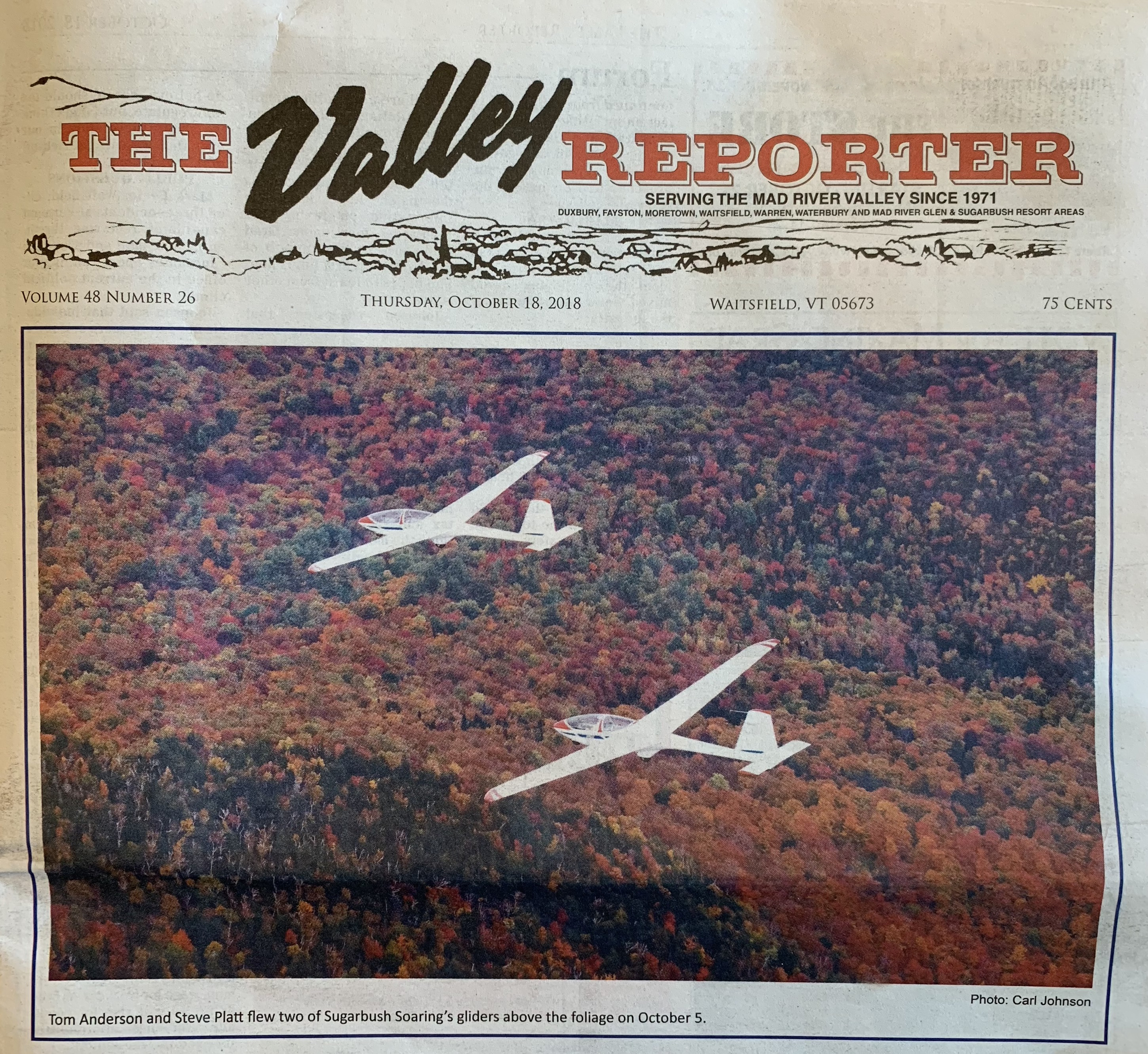 Valley Reporter Foliage Flight Cover